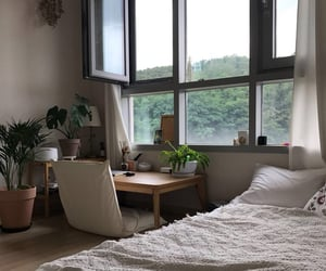 bedroom, white, and windows image