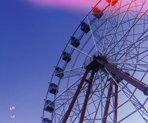 amusement park, blue, and summer image