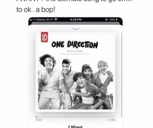 i want, song, and one direction image