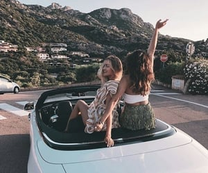 friends, girls, and travel image