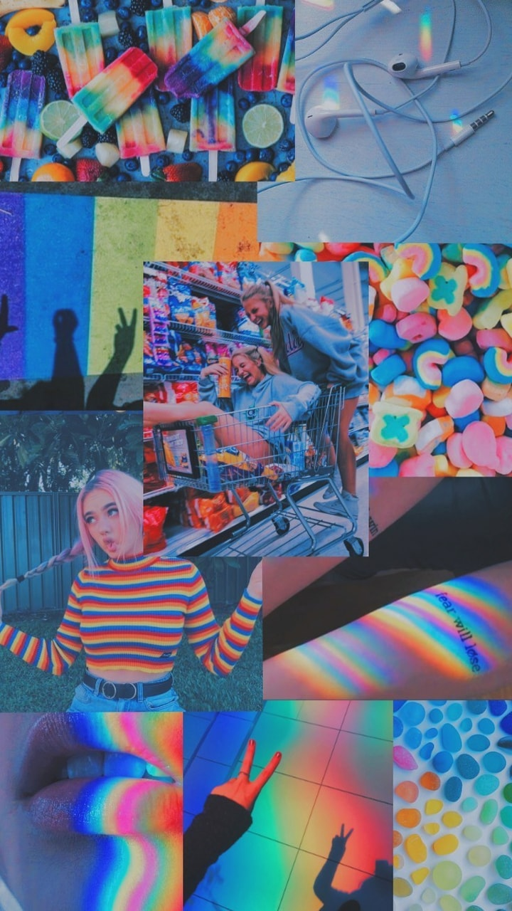 Wallpaper Rainbow Aesthetic Uploaded By Monserrat