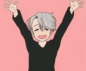 gif, pink, and anime boy image