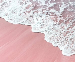 wallpaper, ocean, and pink image