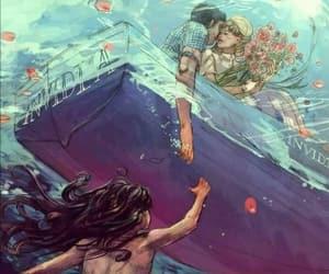 love, mermaid, and drawing image
