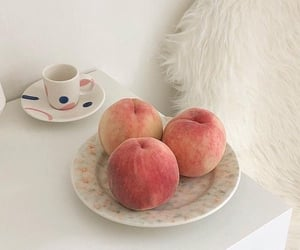 peach, food, and soft image