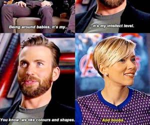 chris evans, Marvel, and Scarlett Johansson image