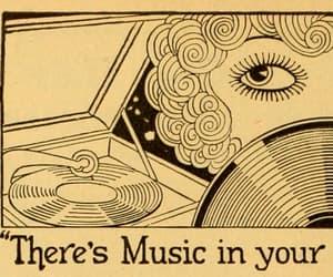 music, eyes, and art image