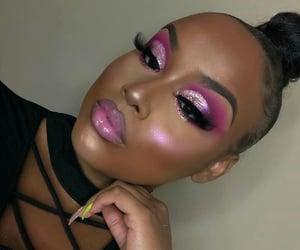 beauty, black girl, and makeup image