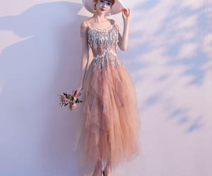 a-line, formal dresses, and ankle length image