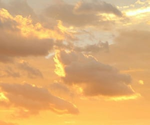 sky, yellow, and clouds image