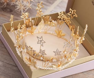 accessories, tiara, and wedding image