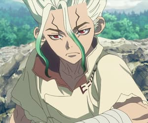 anime, anime boy, and dr stone image