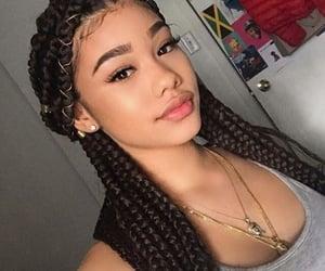 braids, hair, and makeup image