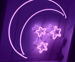 purple, moon, and stars image
