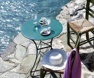 summer, sea, and coffee image