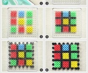 beads, cube, and pixel image