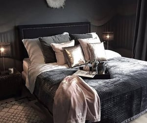 home, bedroom, and black image