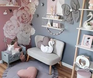 Bleu, maison, and pink image