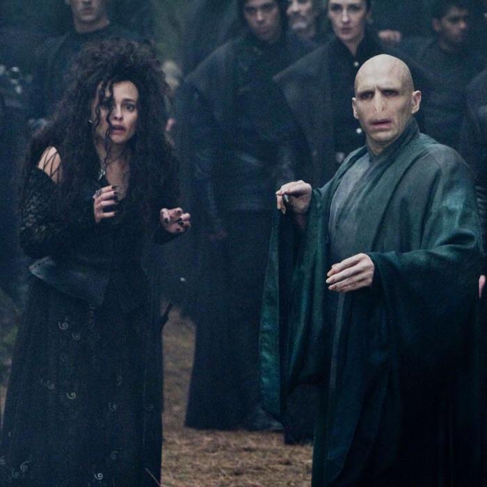 harry potter, voldemort, and bellatrix lestrange image