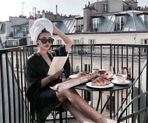 girl, style, and breakfast image