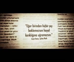 sylvia plath, alıntı, and türkçe sözler image
