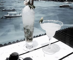 drink, sea, and summer image