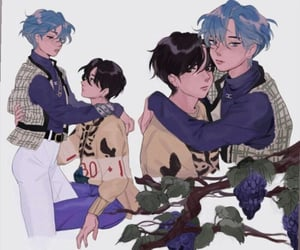 art, taehyung, and taekook image