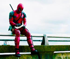 deadpool, gif, and funny image