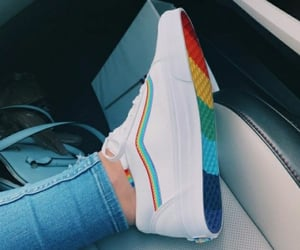 rainbow and shoes image