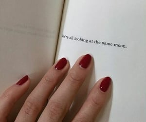 moon, nails, and quotes image