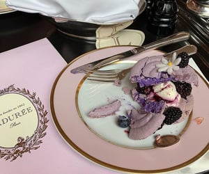 food, purple, and laduree image