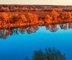 autumn, blue, and green image