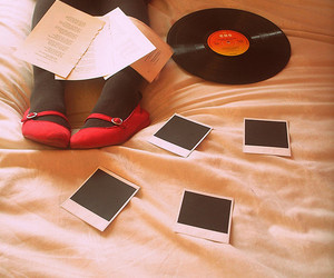 beautiful, bed, and music image