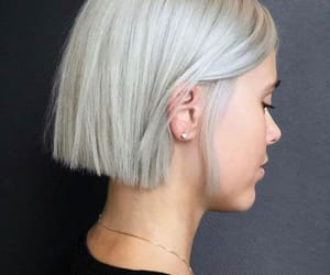 blonde, cut, and hair image