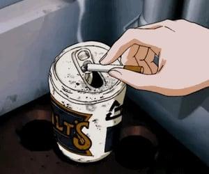 anime, cigarette, and gif image