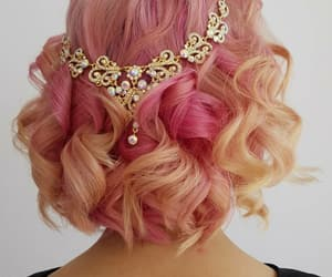 curly hair, diamonds, and hair style image