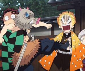 anime, demon slayer, and agatsuma zenitsu image