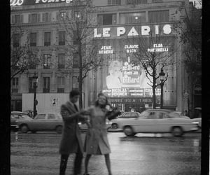 paris, couple, and vintage image
