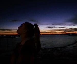 aesthetic, beach, and dark image