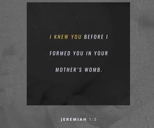 god, bible verse, and jeremiah 1:5 image