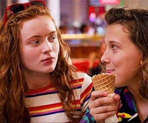 80's, ice cream, and millie bobby brown image