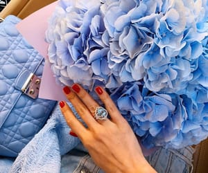 blue, chic, and flowers image