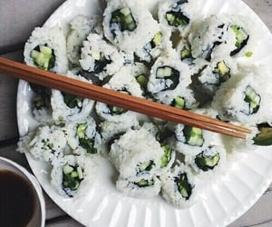 sushi, food, and green image