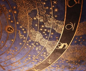 gold, astrology, and stars image