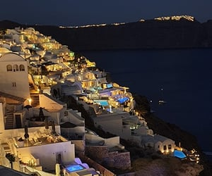architecture, Greece, and holidays image