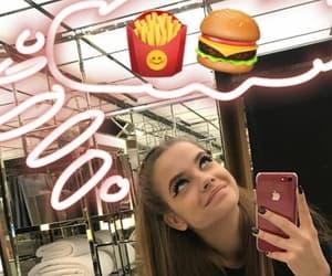 food, girl, and icons image