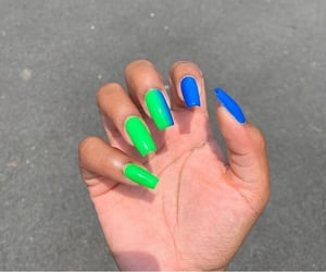 blue, nails, and vertical image
