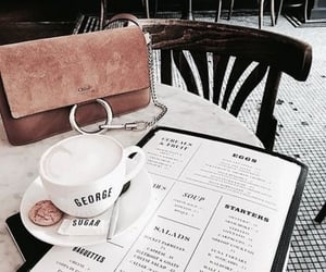 bag, coffee, and cafe image