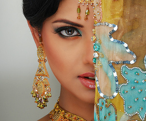 indian, beauty, and woman image