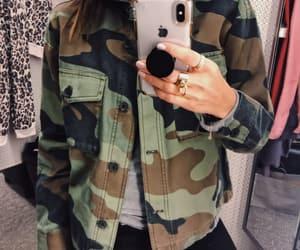 blogger, camouflage, and fashion image